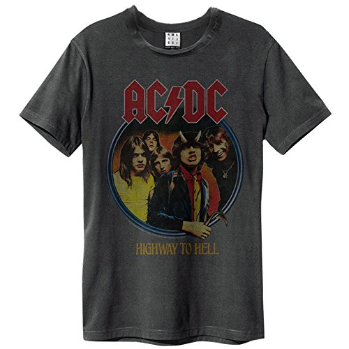 Amplified Shirt AC DC Highway To Hell, Größe XL, charcoal