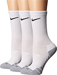 Nike Women`s Dry Cushion Crew Training Socks (3 Pair) (White (Xs5560_100) Cool Greyanthracitewhite, Medium)
