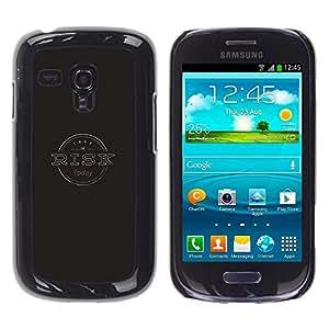 Samsung Galaxy S3 III MINI (NOT FOR S3!!!) / i8190 / i8190N , Radio-Star - Cáscara Funda Case Caso De Plástico (Risk Typography)