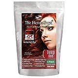 DEEP RED Henna Hair & Beard Color/Dye - 2 Pack
