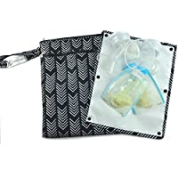 """Sarah Wells """"Pumparoo"""" for Breast Pump Parts, Wet Dry Bag with Staging Mat (B..."""
