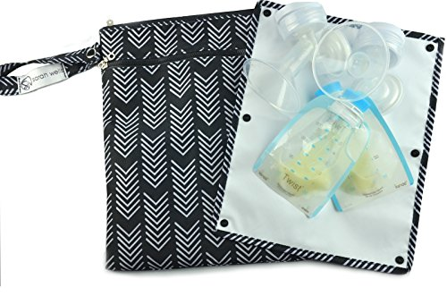 sarah-wells-pumparoo-for-breast-pump-parts-wet-dry-bag-with-staging-mat-black