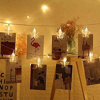 Jardín Al Aire Libre Luces Luces Luces De Hadas Impermeable Jardín Boda Clip De Foto Clip De Estrella Pentagonal Cadena Ligera Clip De Foto Creativo@3 Metros 20 Luces Color Modelos Usb.: Amazon.es: