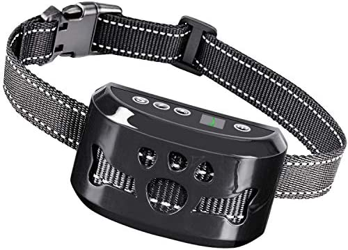 TOTIE Dog Bark Collar -7 Adjustable Sensitivity and Intensity Levels-Dual Anti-Barking Modes Rechargeable Rainproof Reflective -No Barking Control Dog Shock Collar for Small Medium Large Dogs Black