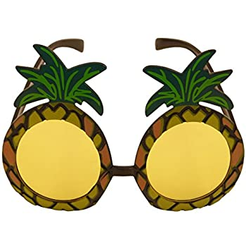 3 x Pineapple Sunglasses Glasses Specs Hawaiian Hula Fancy Dress Up Costume Accessory by Henbrandt G2AZY