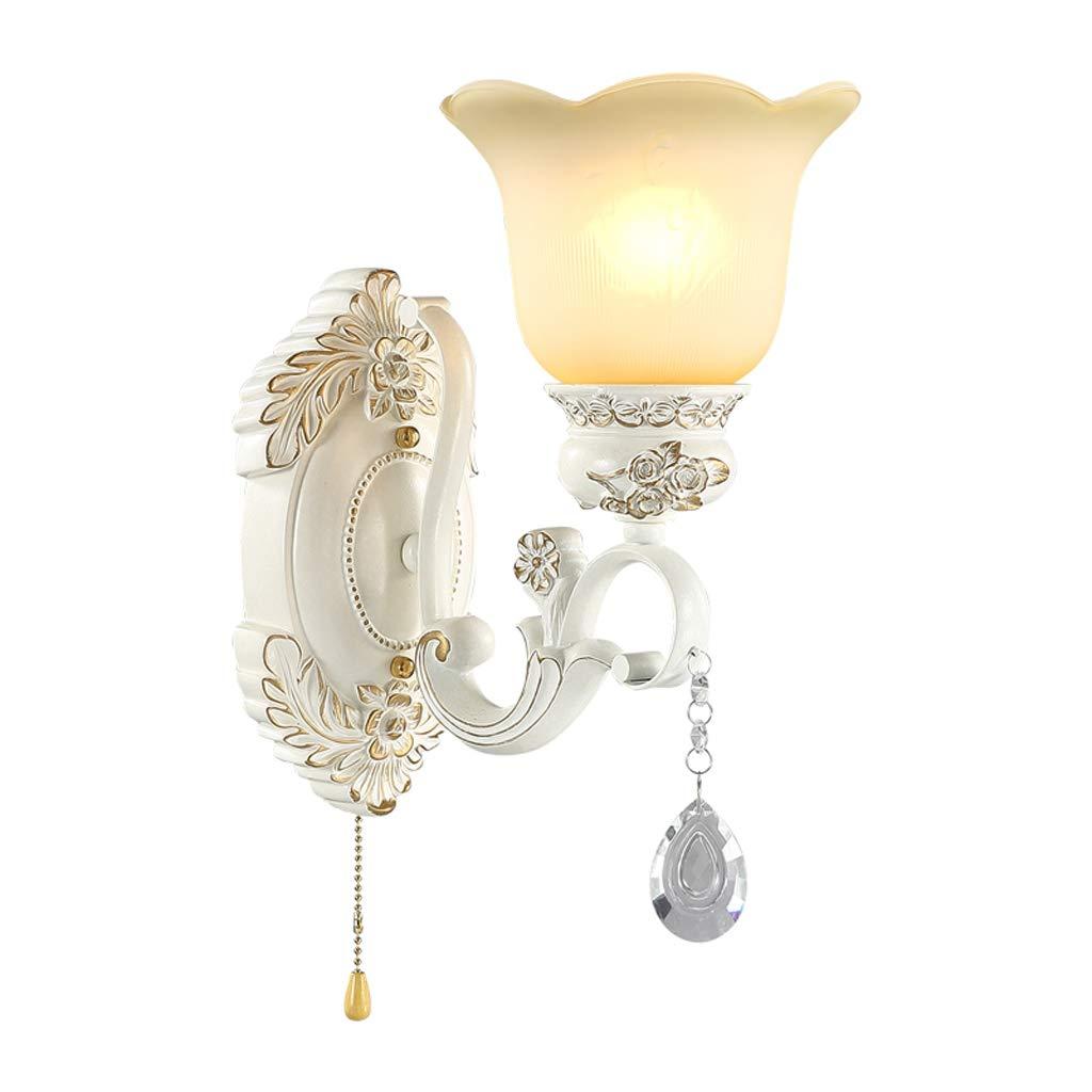 Kreative Wandleuchte Nachttischlampe Ganglampe Einfache Schlafzimmer Lampe Wohnzimmer Kristall Lampe E27 (Größe   Single head)