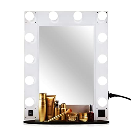 Unho Vanity Hollywood Glam Vanity Mirror With 12 Led Bulbs Make Up