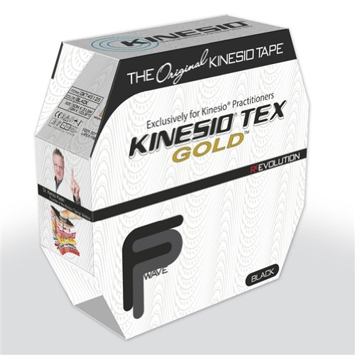 fabrication enterprises Kinesio Tape, Tex Gold FP (Black) by Kinesio