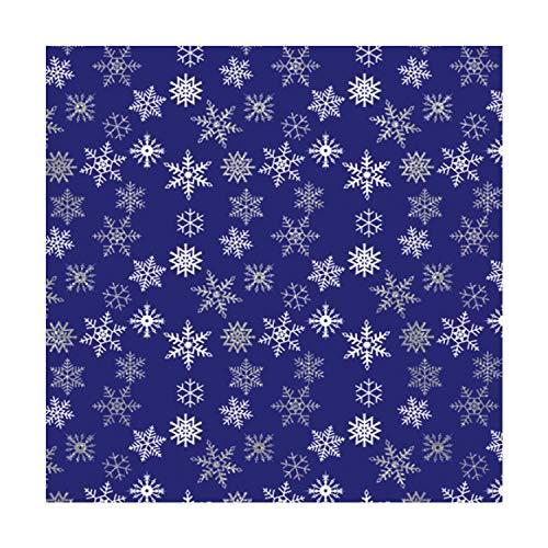Bandana Snowflakes (Glitter Snowflake Bandanas - Dozen Packed - 22x22)