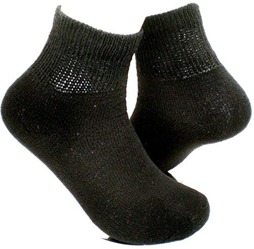 Basico Diabetic Socks for Men & Women, Promote Better Blood Circulation & Reduce Leg Pain & Swelling, Prevent Varicose Veins, 1 dozen Pairs (Ankle 10-13, Black)