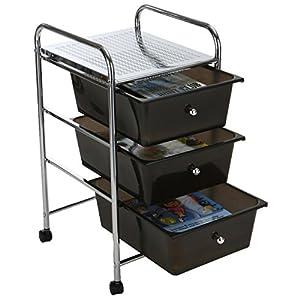 plastic rolling storage cart