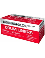 Petoskey Plastics 93004 Heavy Duty Drum and Can Liners, 55-Gallon, Black
