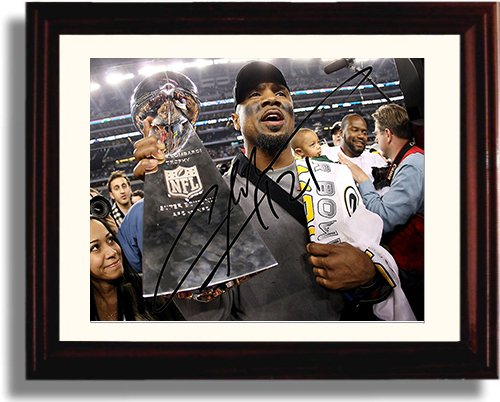 (Framed Charles Woodson Autograph Replica Print)