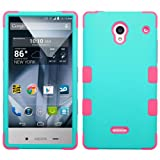 aquos sharp waterproof phone case - Sharp Aquos Crystal 306SH Case, Heavy Duty Tough 3 Piece Layer Combo Hybrid Armor Hard Rubberized Shell Snap On Exterior and Lightning Soft Silicone Rubber Interior Protector Cover by MEGATRONIC - Rubberized Teal Green/Electric Pink [With FREE Touch Screen Stylus Pen]