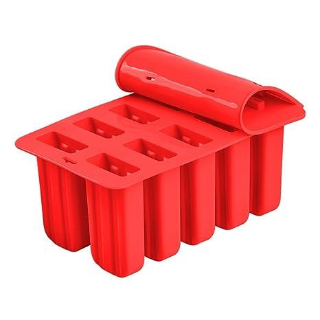 YMYM Reutilizable Moldes de Helado de paletas de Silicona Hecho a Mano Jugo de Leche Café