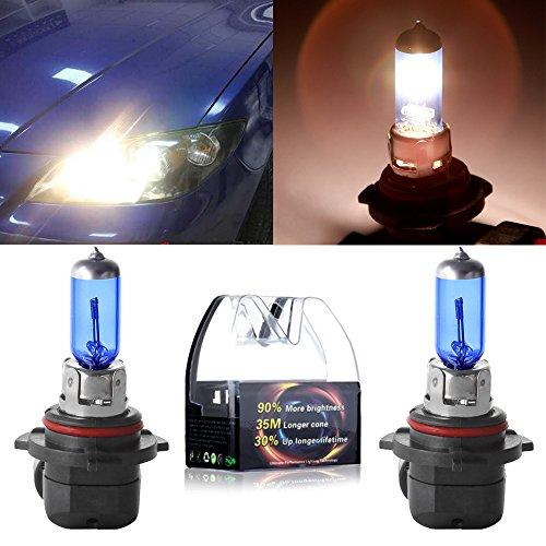 cciyu A Pair of 9006/HB4 Headlight Low Beam Light Halogen Xenon Bulbs 5000K White