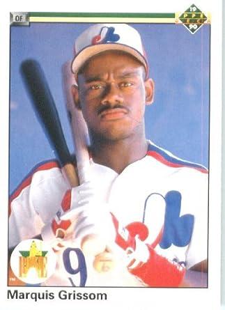 8a9f1374e02 Amazon.com  1990 Upper Deck Baseball Card  9 Marquis Grissom ...