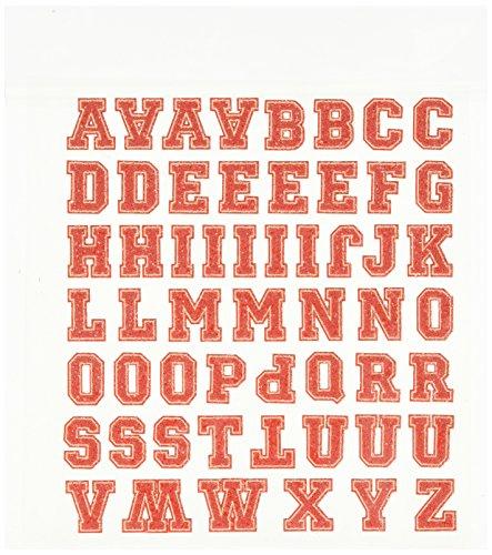Linpeng 5 Piece Iron on 55 Glitter Letter Transfer Sheet Set