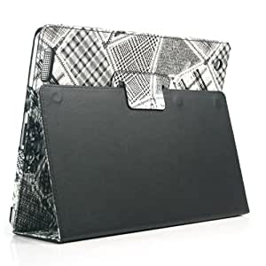 ZuGadgets Leather Stand Case / Cover / Skin / Shell / for Apple iPad 2 + Free Screen Protector (1607-1)
