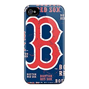 Excellent Hard Phone Case For Iphone 6plus (HUo3318PZVc) Unique Design Realistic Boston Red Sox Skin