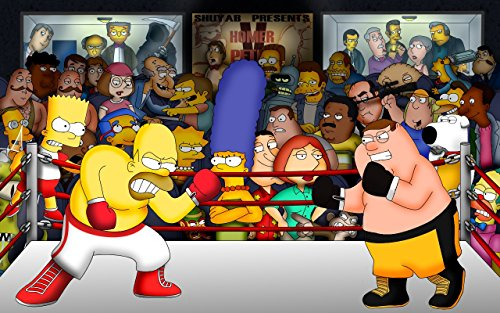 Unique Poster's The Simpsons Homer Simpson Boxing TV Series Poster / Print 12 X 18 Inch Ultra HD Multicolour Unframed Rolled Great Wall Décor