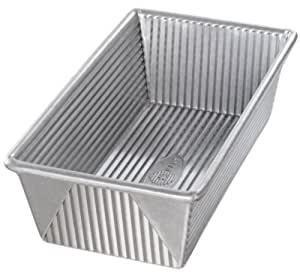 USA Pan Bakeware Aluminized Steel 1 1/2 Pound Loaf Pan