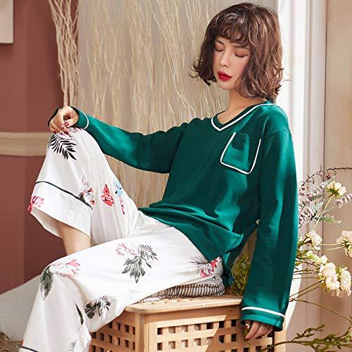 De Xxxxl Largas Conjunto Mujer Home Mangas Pijama Algodón Xxxl Ahsxl Para Wear HvEqznx5Sw