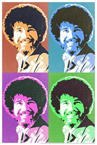 Bob Ross Pop Art Style Art Print Painting Bob Ross Poster Bob Ross Collection Bob Art Painting Happy Accidents…