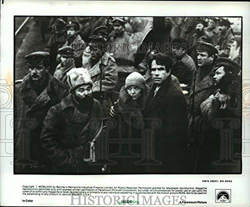 "1981 Press Photo Actress Diane Keaton, Warren Beatty in ""Reds"" - spp11060"