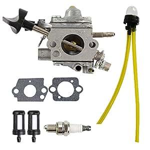 hilom carburador c1q-s183con filtro de combustible imprimación bombilla Bujía Para Stihl BR500BR550BR600mochila soplador de