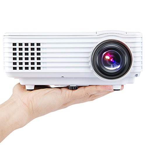 DBPOWER Portable Multimedia Mini LED Projector with USB VGA HDMI AV for PartyHome Entertainment20000 Hours Led life with Mini Tripod