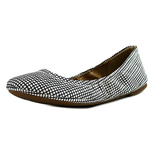 Lucky Women's Leather Black Flat Emmie White Ballerina Brand r65qrawv
