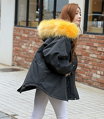 Thick Large Winter Loose Cotton Xuanku color Collar Fur Women Hooded Carbon 'S Cotton Winter Clothing Jacket nAAwPR10q