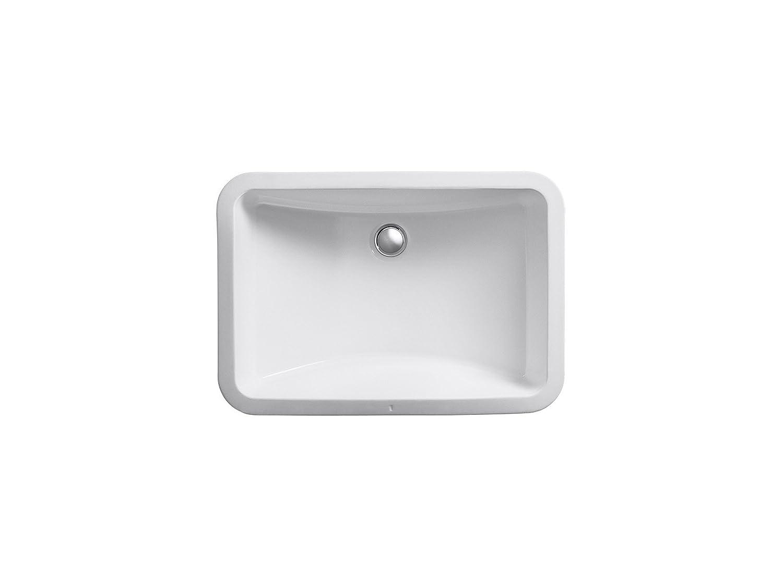 KOHLER K 2214 0 Ladena Undercounter Bathroom Sink, White   Vessel Sinks    Amazon.com