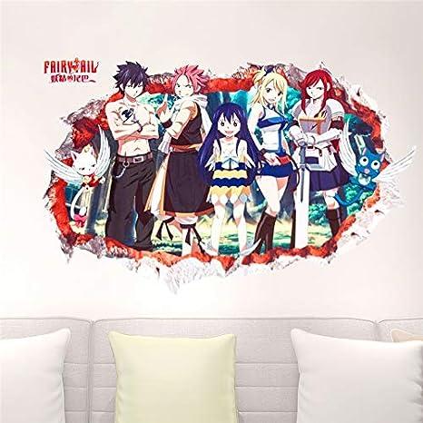 HSQMM Popular Caricatura Japonesa Fairy Tail través de Pegatinas ...