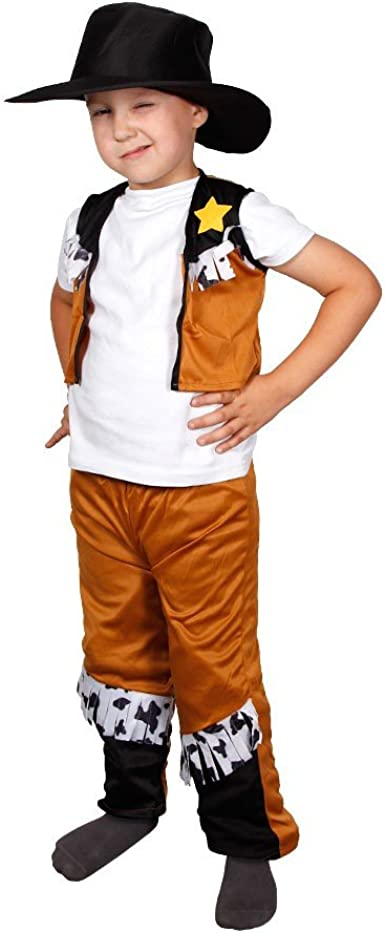 Bambini Cowboy Costume 63//2622 Travestimento outfit Western Cowboy Carnevale