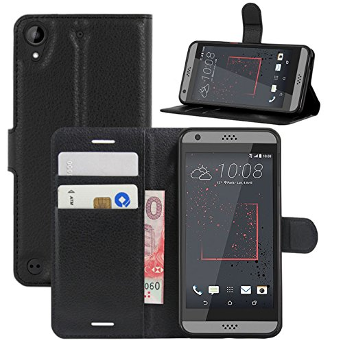 HTC Desire 530 Case, Desire 630 Case, Desire 555 Case, Desire 550 Case, Fettion Premium PU Leather Wallet Flip Phone Protective Case Cover for HTC Desire 530/630 / 555/550 Smartphone - Htc Desire Wallet Phone