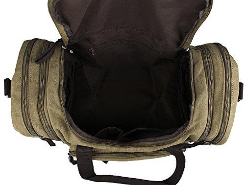 Jellybean HANDGEMACHT LEDER GETRIMMT GEWACHSTES LEINEN REISETASCHE SEESACK Reisetasche WOCHENEND TASCHE BAG