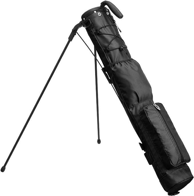【公式】 EARTH LEAD セルフスタンド ゴルフ クラブケース 【超軽量 超安定 大容量収納】クラブ ケース フード&大型ポケット付き 超軽量 低重心 安定感抜群 BASIC