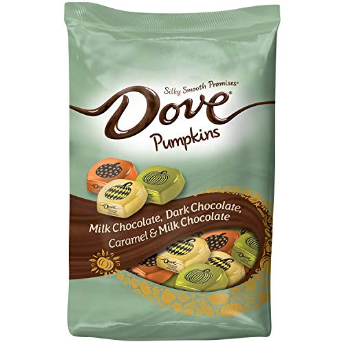 DOVE PROMISES Pumpkins Halloween Candy Bag Variety Mix 24-Ounce Bag