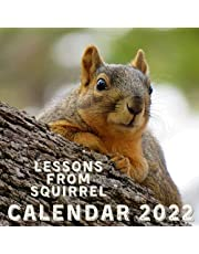 Lessons From Squirrel Calendar 2022: September 2021 - December 2022 Monthly Planner Mini Calendar With Inspirational Quotes