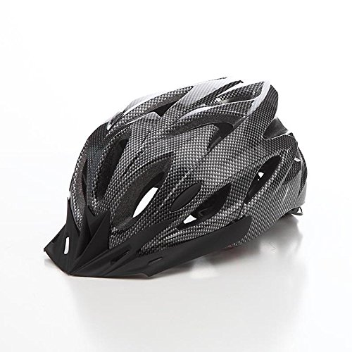 KCHKUI Bike Helmet, Lightweight Mountain Bicycle Helmet with Liner Adjustable Thrasher Adult Youth Cycling Helmets (Black)