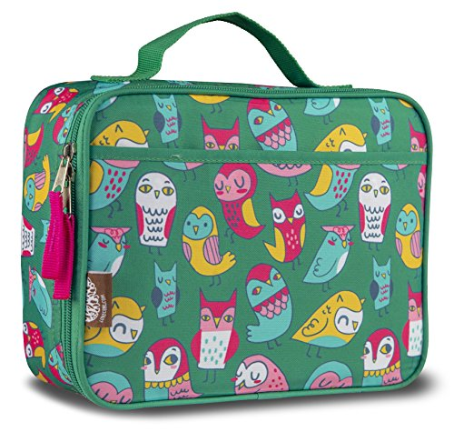 LONECONE Kids Insulated Fabric Lunchbox - Cute Patterns for Boys and Girls, Whooooos Hungry (Owls)