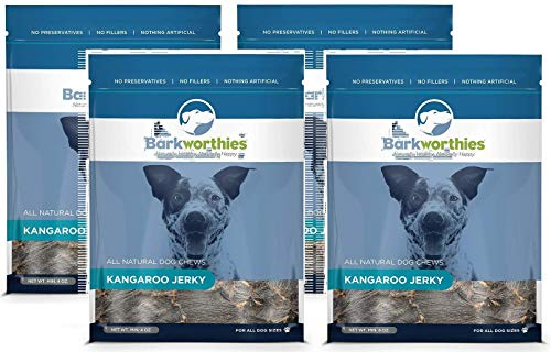 Image of Barkworthies Kangaroo Jerky Treat (4 Pack), 4 oz