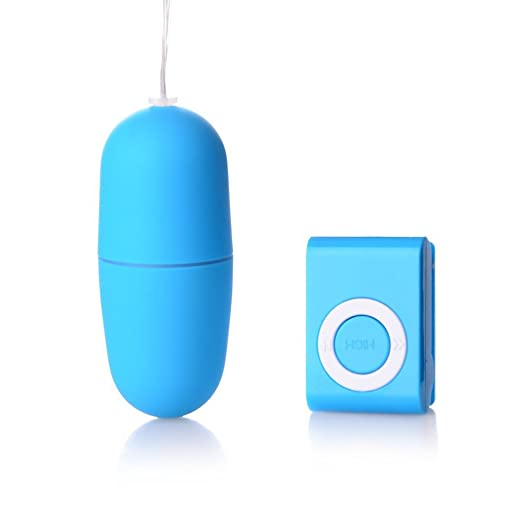 6. Candy and Me Multi Speed Mp3 Design Strong Powerful Vibrator Remote Control Wireless Love Egg Bullet (Blue)