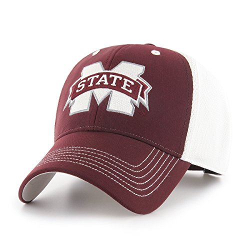 NCAA Mississippi State Bulldogs Sling OTS All-Star MVP Adjustable Hat, Dark Maroon, One Size