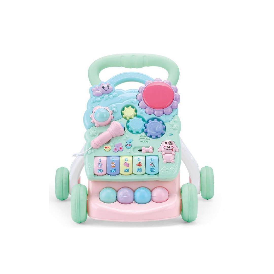 GLJJQMY Passeggino Bambino, velocità Regolabile, Antiribaltamento, Girello, Carrello da Palco Giocattoli educativi per Bambini