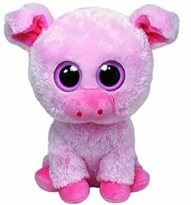 TY 36953 - Corky Buddy - Cerdito de peluche (15,2 x 12,7 x 33 cm), color rosa