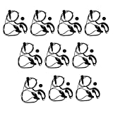 Baoblaze 10 Pack G Shaped Headset Earpiece Mic for Kenwood Two-Way Radio TK