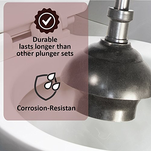 """Toilet Tree Mondern Deluxe Freestanding Cleaning Tools (Stainless Steel, Toilet Plunger 6.5"""" x 6.5"""" x 18.5"""") by ToiletTree Products (Image #2)"""
